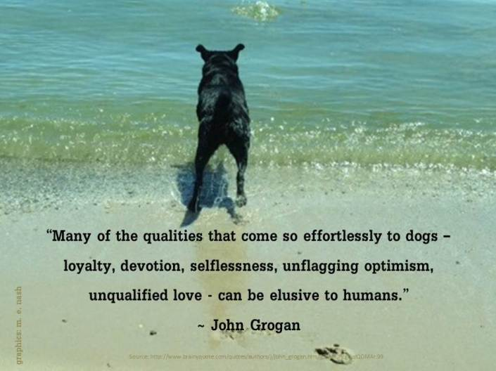 John Grogan Quote and Malcolm the Dog