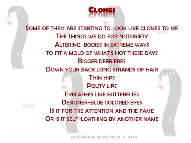 clones poem with graphic