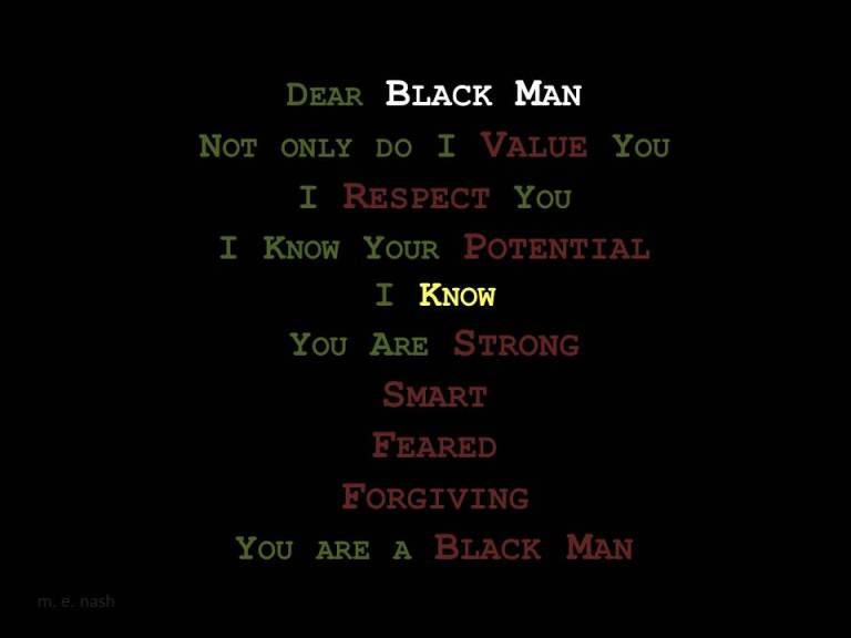 dear black man