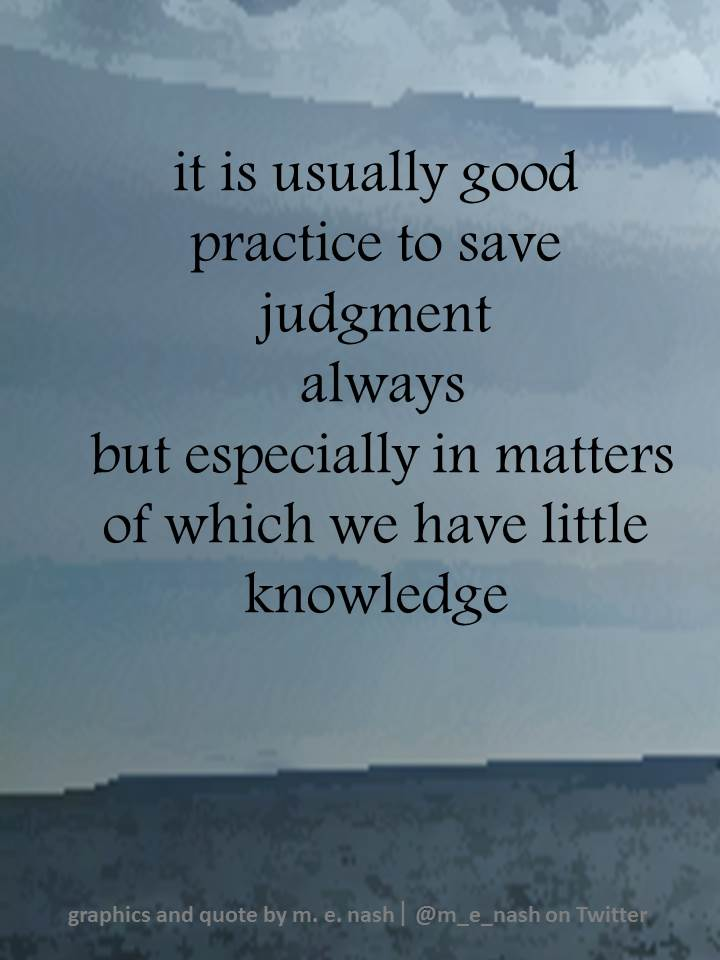 it is usually good practice to refrain from