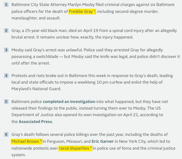 freddie gray facts