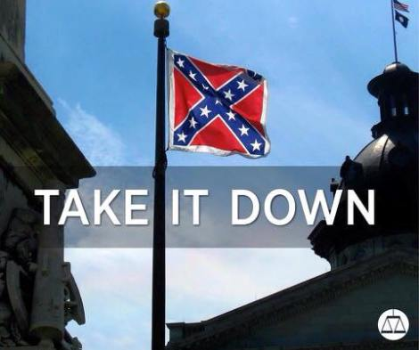 Confederate flag flying in South Carolina. Source: Southern Poverty Law Center
