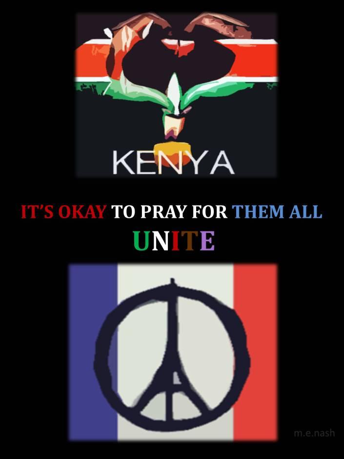 unite paris kenya pray for them all