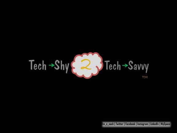 tech shy 2 tech savvy logo v1 black red yellow green