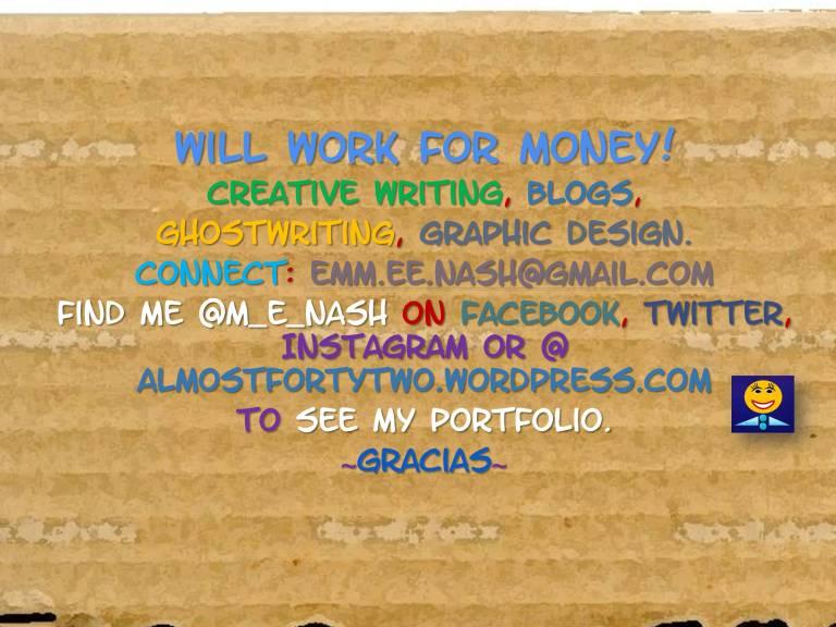 will work for money promo of menash